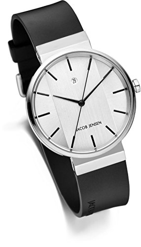 JACOB JENSEN Unisex-Armbanduhr Analog Quarz Kautschuk JACOB JENSEN NEW SERIES NO. 737