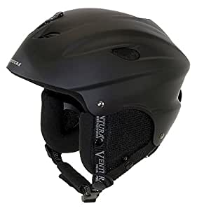 Ventura Kids Universal Ski Helmet - Black, Small