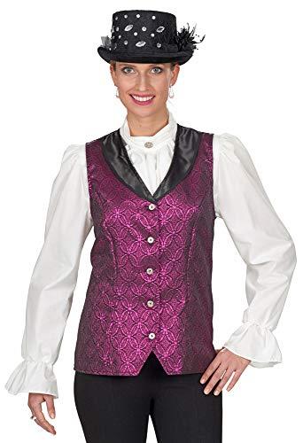 Andrea Moden Brokat Weste zum Barock Kostüm für Damen - Pink - Gr. 44 46