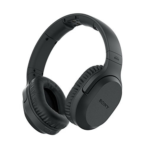 Sony mdr-rf895rk cuffie radiofrequenza wireless home fino a 100m noise cancelling, nero