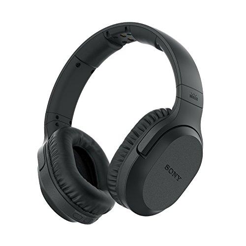 funkkopfhoerer sony Sony MDR-RF895RK kabellose Kopfhörer (bis zu 100 Meter Reichweite, Geräuschminimierungssystem, 40-mm-Treiber, automatische Frequenzsuche, bis zu 20 Stunden Akkulaufzeit) Schwarz