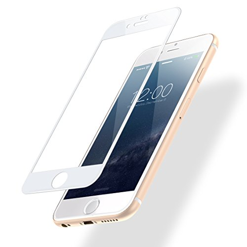 POSUGEAR iPhone 6 / 6s Panzerglas Schutzfolie, Ultra-klar 3D Full Screen Panzerglasfolie 9H Härte Displayschutzfolie für iPhone 6 / iPhone 6s (4,7 Zoll) - [weiß] - 6 Screen Protector Set Iphone