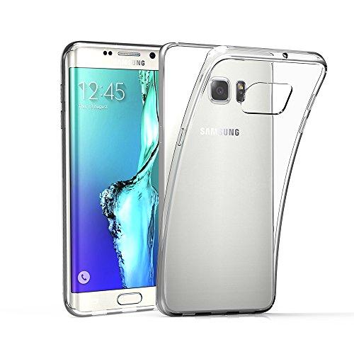 EasyAcc Samsung Galaxy S6 edge plus Hülle Case Transparent Handyhülle Schutzhülle TPU Crystal Clear Case Backcover Bumper Slimcase---18 Monate Garantie