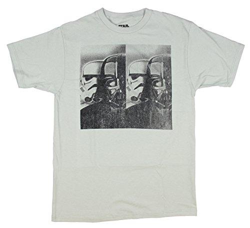 Trooper-Classic-Star-Wars-Vader-cuello-redondo-T-camiseta-de-manga-corta
