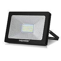 LED Floodlight MEIKEE 30W Led Security Light Super Bright IP66 Waterproof Cold White Outdoor Lights for Garden Garage Doorways