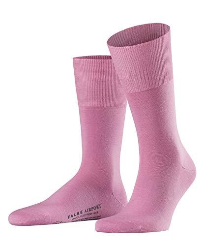 FALKE Herren Airport Woll-/ Baumwoll Strümpfe Einfarbig Business Socken, Blickdicht, rosa (peony), 41-42 -