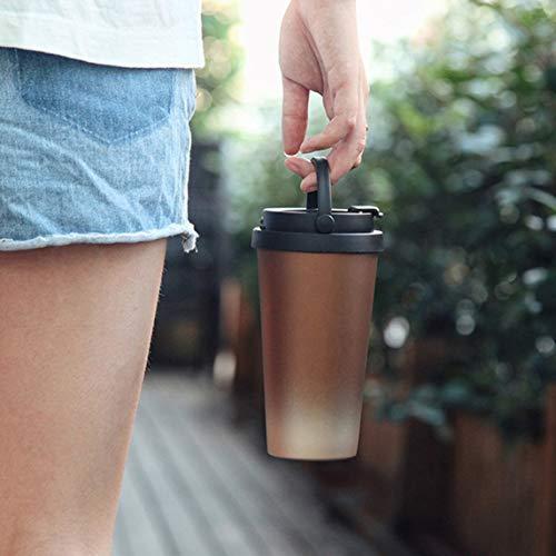 Footprintse Portable Edelstahl Isolierflaschen Thermobecher Kaffee Tee Isolierwasserflasche für...
