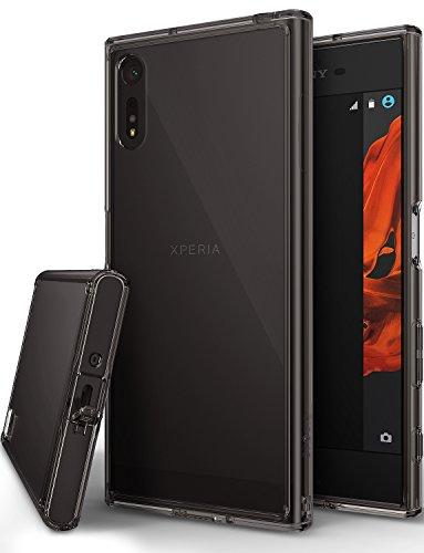 Sony Xperia XZ Hülle, Ringke FUSION kristallklarer PC TPU Dämpfer (Fall geschützt/ Schock Absorbtions-Technologie) für das Sony Xperia XZ / Xperia XZs - Rauchschwarz