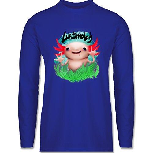 Sonstige Tiere - Lustmolch - Axolotl - Longsleeve / langärmeliges T-Shirt für Herren Royalblau