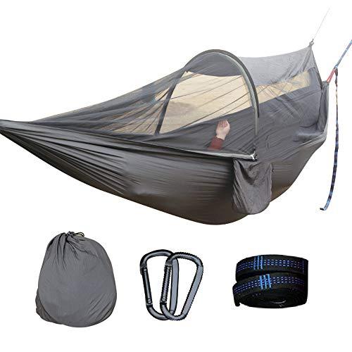 Outdoor-Moskito-Hängematte Camping Survival Equipment Robust Komfortabel Weich Tragbar Atmungsaktiv Sicher Leicht Leicht Bedienbar Geeignet für Outdoor-Reisen Camping (Wand-moskitonetz)