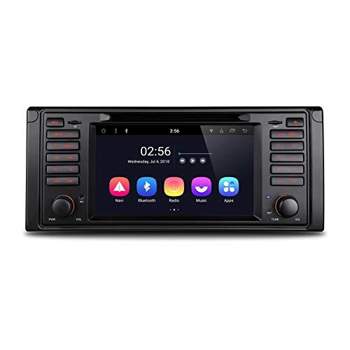 XISEDO Android 8.0 in-Dash 1 Din Autoradio 9 Pouces Voiture Radio /à /Écran Tactile 8-Core RAM 4G ROM 32G Car Radio Syst/ème de Navigation GPS pour BMW 5-E39//BMW X5-E53
