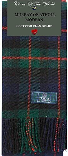 I Luv LTD Murray of Atholl Modern Tartan Clan Scarf 100% Soft Lambswool Tartan Lambswool Scarf