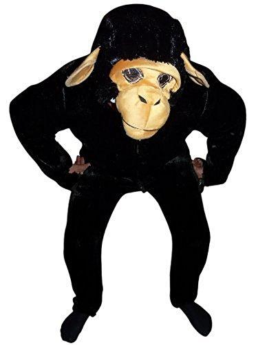 Schimpanse Affen-Kostüm, F84 Gr. M- L, Affen-Kostüme Affe Schimpansen-Kostüme Affen-Faschingskostüm, Fasching Karneval, Faschings-Kostüme, Geburtstags-Geschenk Erwachsene