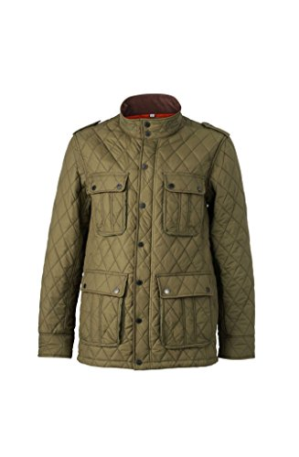 Men's Diamond Quilted Jacket in dark-olive Größe: M