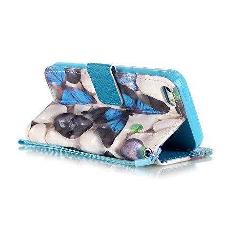 Cover per iPhone 5 Card Slots,Custodia per iPhone 5S ,Bonice Premium Multifunzionale Pelle Portafoglio Staccabile Detachable Removable Folio Zipper Protettivo Case Multiplo Extra Slot per Carte Conser Pelle-Cover-25