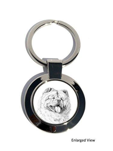 chow-chow-hund-rund-chrom-plattiert-schlusselanhanger-geschenk
