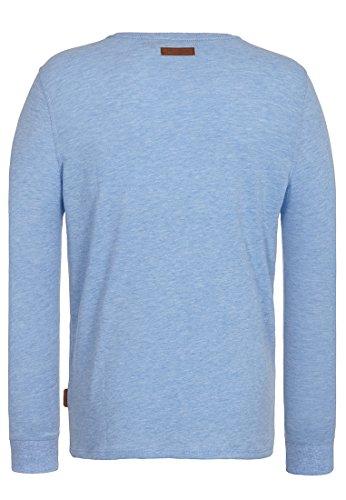 Naketano Male Sweatshirt Do the Ömer Dance III Amazing blue Melange