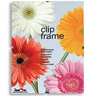 Innova Editions Plastic Safety Glass Frame for 40x50cm/20x16 inch Picture or Poster with Clips and White Edged Backing Board