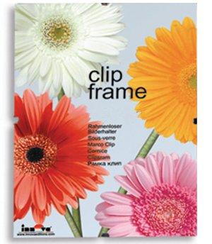 Innova Editions 30 x 40 cm, 16 x 12 cm, Glas, für Bilder und Poster mit Clips und Kanten Rückwand, Weiß 50 Home Cinema