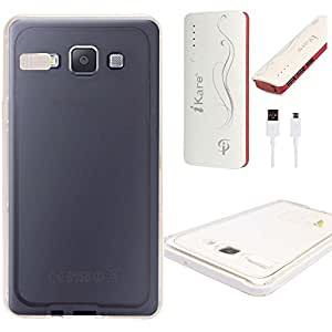 DMG LED Flashing Call Notification TPU Back Cover Case for Samsung Galaxy A5 (White) + 10000 mAh Power Bank