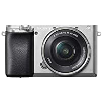 Sony Alpha 6100L Kit Fotocamera Digitale Mirrorless con Obiettivo Intercambiabile SELP 16-50 mm, Sensore APS-C, Video 4K, Real Time Eye AF, Real Time Tracking, ILCE6100S + SELP1650, Argento