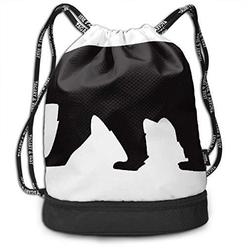 Giraffe Womens Licht (Rucksäcke,Sporttaschen,Turnbeutel,Daypacks, Drawstring Backpack Bundle Gym Bike Duffel Bag Knapsack Fashion Waterproof Sport Bag for Men Woman School Travel Lion Giraffe Rhino Zebra Print Pack)