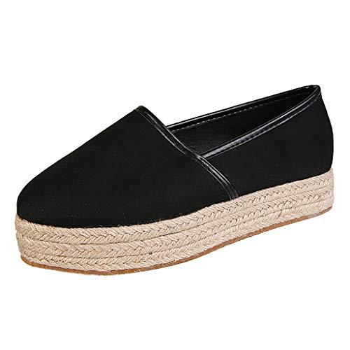 Loxmy Damen Casual Römer Plus-Size Wedges Casual Pumps Schuhe Frauen Strandschuhe Pumps Sandalen Keile Offener Knöchel Römische Schuhe Hausschuhe Slipper & Mokassins