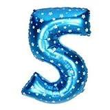 Number Foil Balloons 5 - Blue, Foil Ball...
