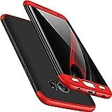 Vanki Samsung Galaxy S7 Edge Custodia 360 Gradi della Copertura Completa 3 in 1 Hard Stilosa PC Case Cover Protettiva Bumper Posteriore per Galaxy S7 Edge (Samsung Galaxy S7 Edge, Rosso + Nero)