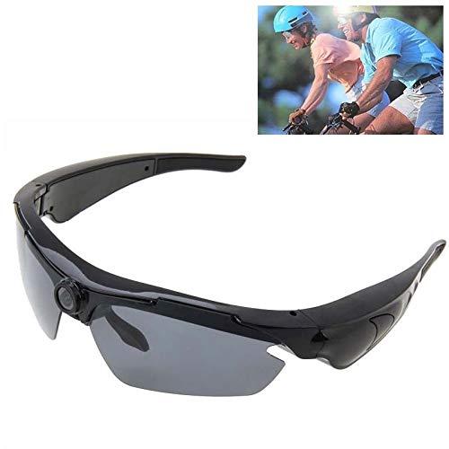 Yiph-Sunglass Sonnenbrillen Mode 1,3-Megapixel-Sport-Sonnenbrillen-Kamera, 70-Grad-Weitwinkel-HD-Objektiv (Farbe : Schwarz)