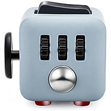 Fancyku Fidget Toys 6 Side Cube Relieves Stress & Anxiety - Grey