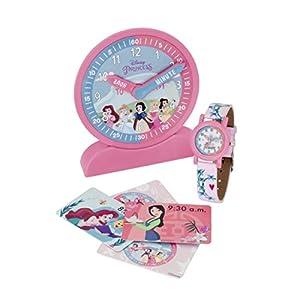 Disney Princess 2021920 Time Teacher; Uhr, Armbanduhr und Aktivitätskarten zum Uhrlesenlernen