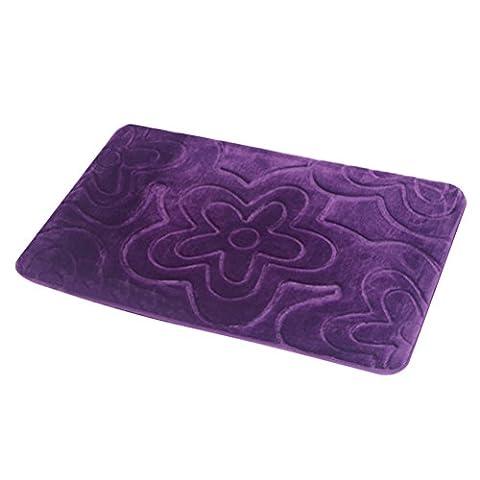 Zhhlinyuan Premium Quality Memory Foam Bath Rug Shower Mat Water Absorbent Non Slip