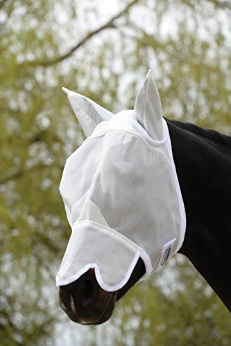 Weatherbeeta Buzz Away Fly Mask With Nose Black Pony 1