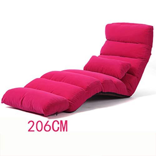 VIVOCCChair Falten Tatami Sofa Sessel, Faul Mit verstellbare rückenlehne Tatami Fußboden Stuhl Schlafsofa Couch Lounge Chair Zum lesen Office Balkontür Home-P 173x55cm(68x22inch)