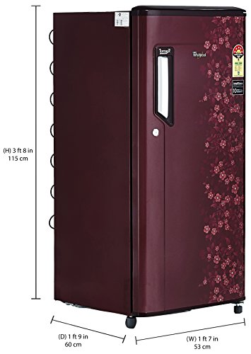 Find best price : Whirlpool 190L 205 IMPC ROY 3S Wine anium ... Double Door Refrigerator Whirlpool on