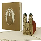 Pop Up Scheda * Frauenkirche di Monaco * Buono regalo * viaggio * Monaco, A08