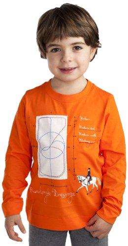 Le Imaginarium 65 G à manches longues-La Jeune cycliste Collection T-Shirt pour femme Orange - Orange