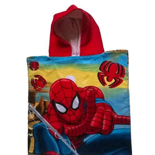 Kinder Marvel Spiderman Poncho Handtuch (Rot) (Flash-kapuzen-handtuch)