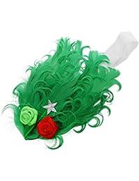 SODIAL(R) Ungewoehnliche Maedchen Baby Feder Stirnband mit niedlichen Rose Stirnband