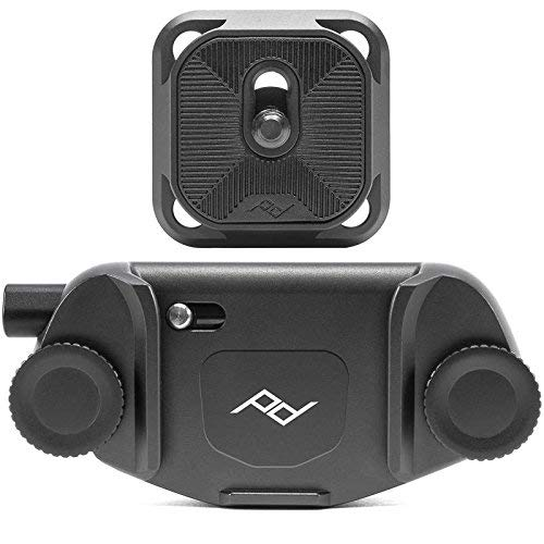 Peak Design Capture Clip v3 Black inkl. Standard Plate - Kameraclip zum Tragen von DSLR-/DSLM-Kameras an Gurten oder Gürteln