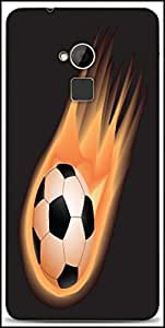 Snoogg Soccer Fire Designer Protective Back Case Cover For HTC One-Max
