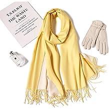 MMYOMI Écharpe Souple en Cachemire Super Soft bicolore Pashmina Emballage  Châle Écharpe pour Femmes Hommes Amoureux cca17369342