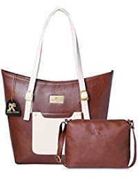 d76342a4dff Speed X Fashion Women s Leather PU Shoulder Bag with Sling Bag Combo (Brown)