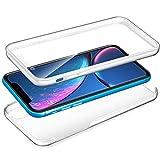 YuhooTech Clear Hülle für Huawei Honor 8X 360 Grad Ganzkörper Case Etui Handyhülle, Full Cover Vorne Silikon TPU Hinten PC Hartplastik Doppel-Schutz Schutzhülle