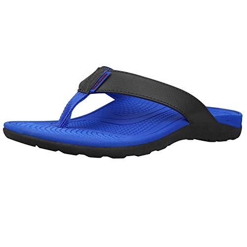 Everhealth Infradito Uomo Ortopediche Sandali Mare Pantofole Sportivi Ciabatte da Spiaggia e Piscine, Sandali per Sostegno dell'Arco Plantare (Blue EUR 44 / US M's 12 W's 13)