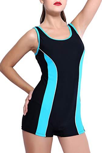 BeautyIn Wettkampf Schwimmanzug für Damen Push up mit Beinen Bademoden Sportlich Elastisch XS