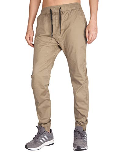 Militär-gelb T-shirt (Italy Morn Herren Chino Jogging Hose Casual Stoff Hose Chinohose Sporthose Slim Fit L Khaki)