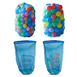 HonXins 2pcs Kids Ball Storage Net Bag Toy Net Multi-Purpose Toys Organizer Toy Storage