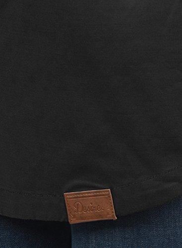 DESIRES Inata Damen Übergangsjacke Parka mit Kapuze aus hochwertigem Material Black (9000)